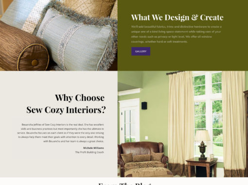 Website, Sew Cozy Interiors
