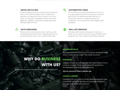 Website, Xpress Metal Recycling