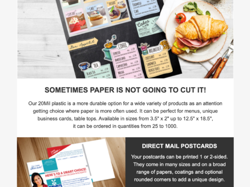 PrintedRevolution.com – Email Marketing for Custom Printed Marketing Materials Company