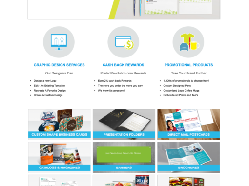 PrintedRevolution – Website Design