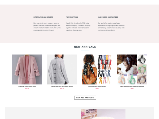 Honeyberry – website design for fashion brand